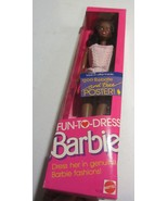 Fun-To-Dress African American Barbie Doll - new in package - $23.70