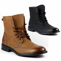 Delli Aldo Men's Lace Up Wing Tip Dress Ankle Boot w/ Leather Lining M-828 - €32,27 EUR