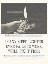 Zippo Lighter Ad Military Soldier WAC Sgt Gloria Ross 1965 Tobacco Cigarette - $14.99