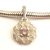Authentic Pandora Blooming Dahlia Dangle Charm , Cream Enamel 791829NBP New - $45.87