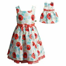 Girl and Doll Matching Fancy Party Easter Dress Outfit Clothes American ... - $32.99