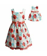 Girl and Doll Matching Fancy Party Easter Dress Outfit Clothes American ... - £24.04 GBP