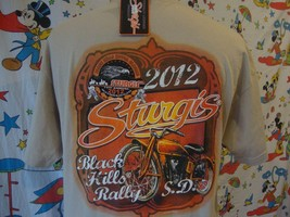 New Nwt Sturgis 2012 Black Hills Rally Motorcycle Biker Mc T Shirt Size L - $15.83