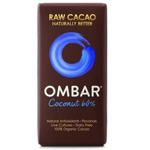 Ombar 60% Coconut Raw Chocolate Bar 35g - $6.65