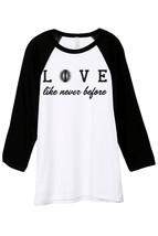 Thread Tank Live (Love) Like Never Before Unisex 3/4 Sleeves Baseball Ra... - $24.99+