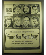 1944 Since you Went Away Movie Ad - Claudette Colbert, Shirley Temple - $14.99