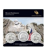 2013 P D & S US Mint Mount Rushmore ATB Quarters 3 Coin Set Sealed W COA... - $21.95