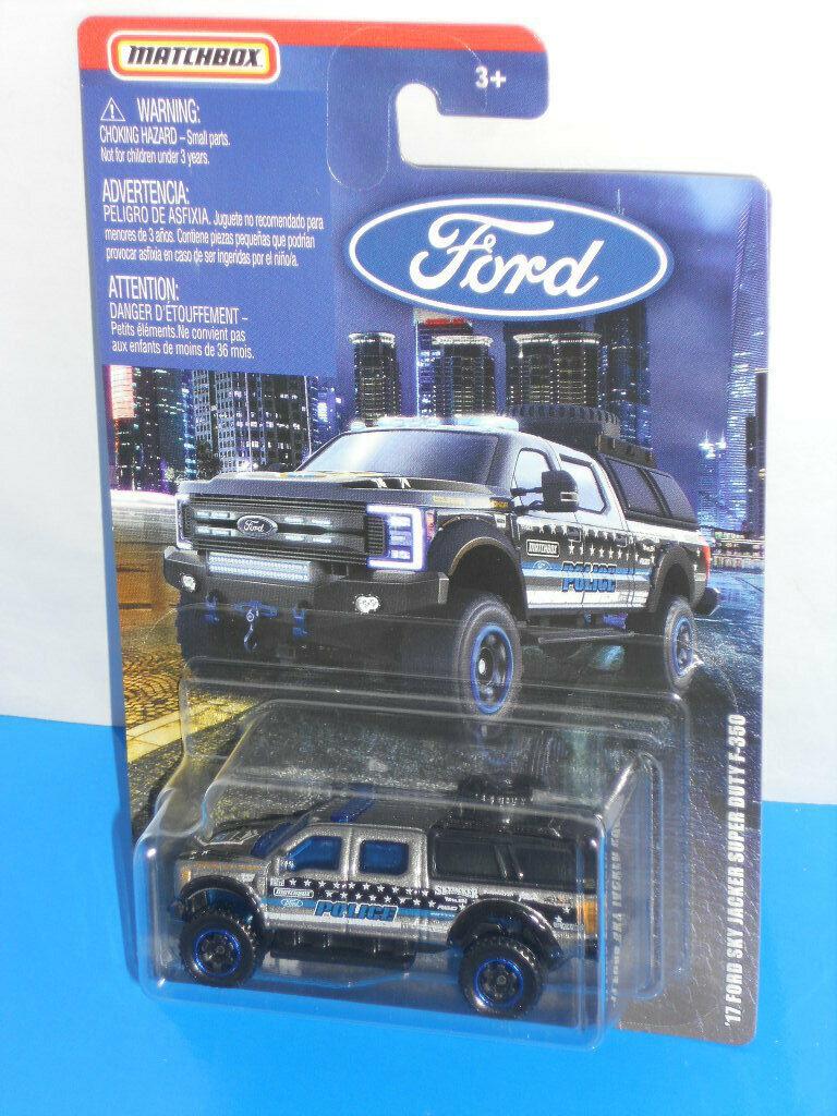 Matchbox 2019 Ford Truck Series '17 Ford SKY JACKER Super Duty F-350 Grey