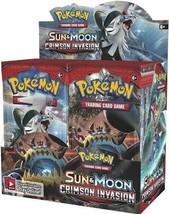 Sun & Moon Crimson Invasion 9 Booster Pack Lot 1/4 Booster Box POKEMON TCG - $28.75