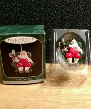 "1998 Hallmark ""Coca Cola"" Time Keepsake Ornament Miniature - $5.89"