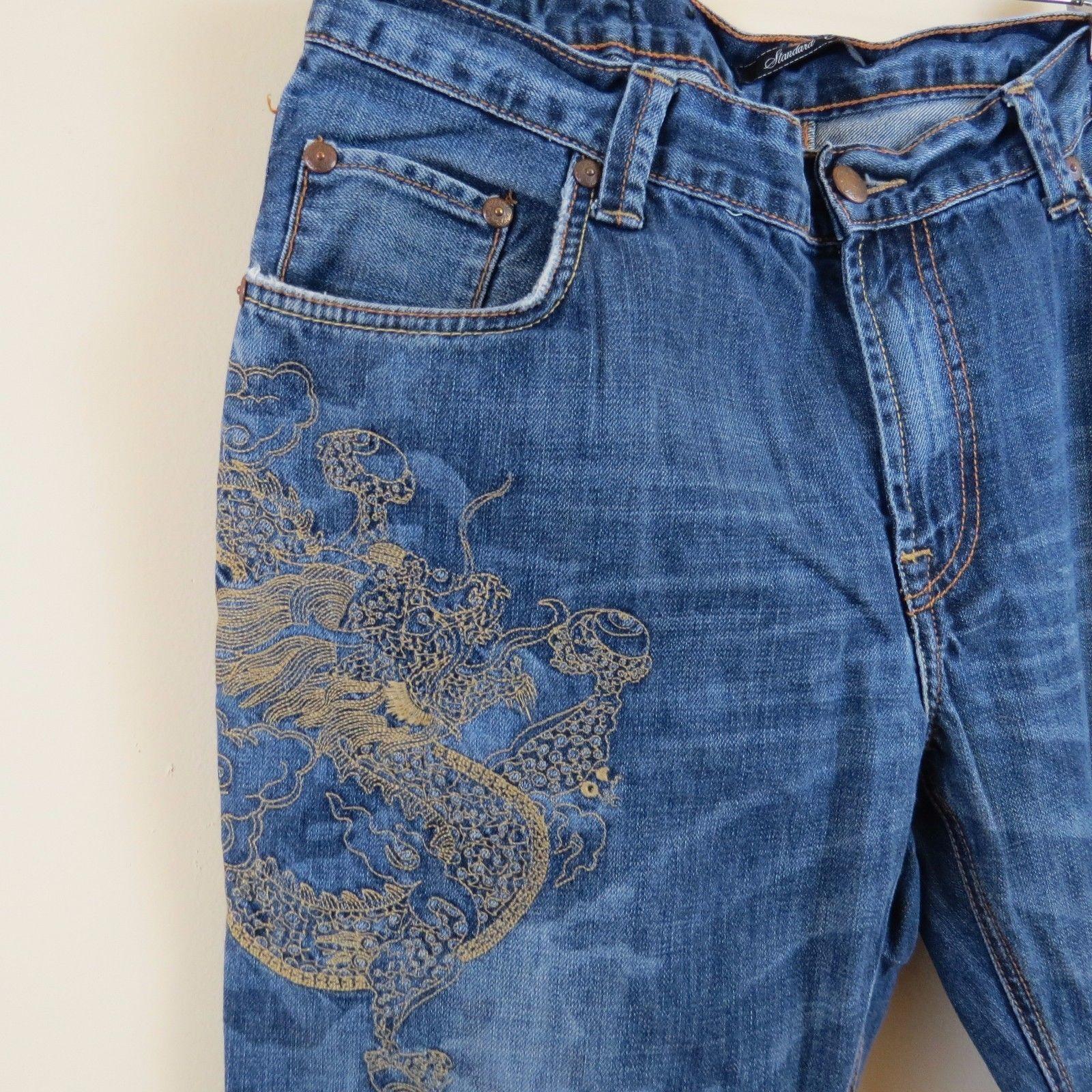 33443dd4 S l1600. S l1600. Previous. MARC ECKO Cut & Sew Standard Cut Embroidered Jeans  Men's Size 36 ...