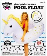 Bigmouth INC Vinyl Inflatable Giant golden Unicorn Pool Float - $29.99