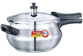 PRESTIGE STAINLESS STEEL PRESSURE COOKER OUTERLID BELLY SHAPED 3.3 LITER... - $75.05