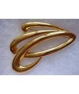 Vintage Signed M.LENT Goldtone Pin Brooch Modernist - $12.05