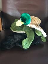 Gently Used Lot of Folkmanis Plush Beaver Frog & CalToy Mallard Duck Outdoor - $19.39
