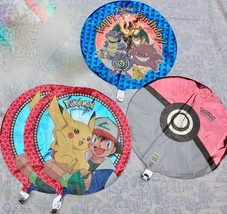 "4 Pokemon 18"" Foil Mylar Balloons Happy Birthday Pikachu Nintendo - $9.90"