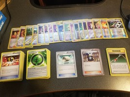 Pokemon Assorted Trainer Cards, Around 200 cards, Some Shiny Types - $39.99