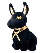 Large Size Egyptian Plush Black & Golden Anubis Stuffed Animal.Soft and ... - $22.76