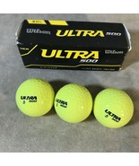Wilson Ultra 500 Yellow Golf Balls Pack Of 3 - $1.97