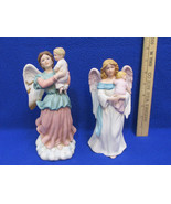 Homco Figurines Madonna Guardian Angels w/ Baby Child  Porcelain Vintage... - $14.84