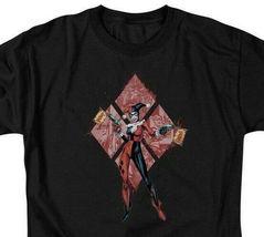 "DC Comics Harley Quinn ""Pow Pow"" Graphic Tee Retro Suicide Squad Batman BM2704 image 3"