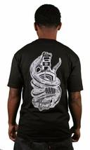 In4mation Poison Ras T-Shirt Arrière Graphique Serpent Venom Noir Coton T-Shirt