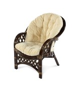 Natural Handmade Rattan Wicker Chair Table Roosevelt w/Cushion - $349.99