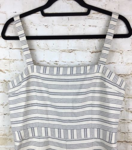 Anthropologie Paper Crown Large Women's Lined Stripe Romper New