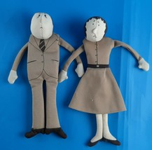 Vintage 1979 Fleminger Copeless People Dolls Man & Woman Bean Bag - $44.94