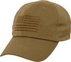 Coyote Brown Subdued American Flag Adjustable Operator US Flag Cap - £9.23  GBP 3fbfe9dbc39