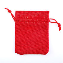 2PCS Linen Jewellery Drawstring Pouch Ring Beads Candy Bags Burlap Gift 6D - €3,23 EUR+
