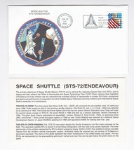 STS-72 ENDEAVOUR KENNEDY SPACE CENTER FL JAN 20 1996 WITH INSERT CARD - $1.78