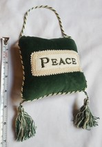 Christmas Door Hanger - Peace Pillow with tassels • pre-owned • nice con... - $12.18