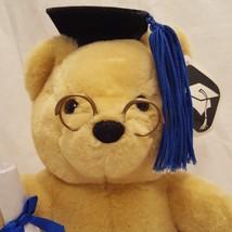 "Graduation Teddy Bear Graduate 9"" Plush Stuffed Animal 1999 Kids of Amer... - $19.89"
