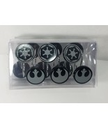 DISNEY STAR WARS GALACTIC REBELS SHOWER CURTAIN HOOKS SET OF 12 BATH COL... - $19.59