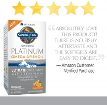 Garden of Life Omega 3 Fish Oil with Vitamin D Once Daily - Minami Platinum - $141.88