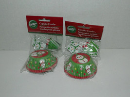 2 Packs Wilton Cupcake Combo Liners & Decorations Snowman  24 Cups & Pic... - $8.90