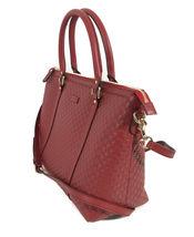 NEW GUCCI Microguccissima Leather Zip Top Crossbody Handbag image 5