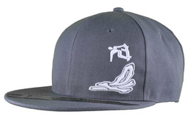 Dissizit Smoke Bowls Skateboard D Bones Ramp Grey Snapback Baseball Hat NWT