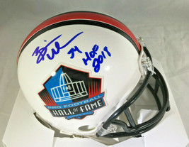 BRIAN URLACHER / NFL HALL OF FAME / AUTOGRAPHED HALL OF FAME MINI HELMET / COA image 1