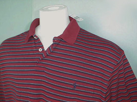 NEW! NWT! Polo Ralph Lauren Red Striped Polo Shirt! L *Soft Smooth Cotton* - $46.99