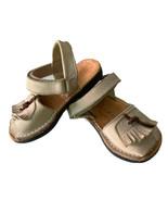 OKAA SPAIN Girls Tan Leather Fringe Sandals Size 23- US 6.5 Girls  - $16.66