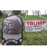 Lot of 2 Coal Miner and Retired Coal miner Baseball Caps Hats - $10.00