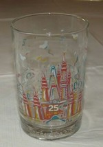 Walt Disney Disneyland Disney World Disney Studios 25 Years Glass - $16.03