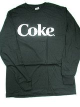 Coca-Cola Black Long Sleeve Tee T-shirt White Letters Coke Large- BRAND NEW - $13.61