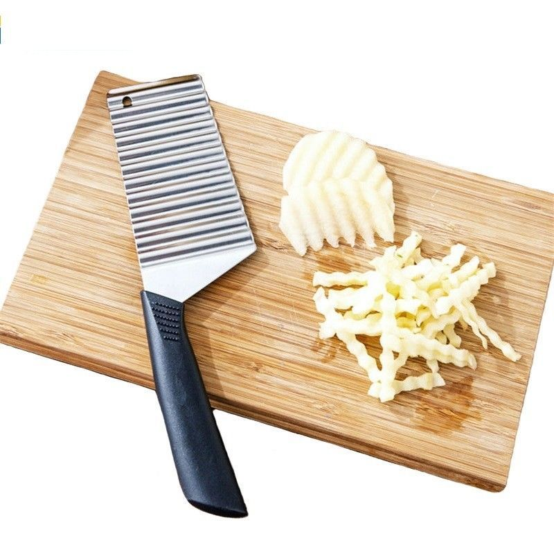 Fruit Potato Wavy Knife Kitchen Gadget Cooking Tools Accessories Stainless Steel