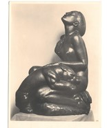 Tropennacht Sculpture Tropical Night Artist Josef Mullner Austria 4X6 Po... - $6.69