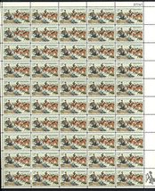 Charles M Russell Complete Sheet of 50 5 Stamps - Artist - Issued in 1964 Scott  - $9.99