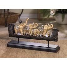 ELEPHANT FAMILY CARVED DECOR - $47.00