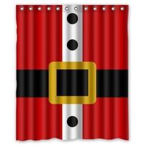 New Qualified Christmas Shower Curtain Custom Merry Christmas Fabric Waterproof  - $29.87